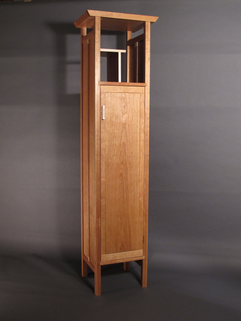Marvelous Tall Narrow Armoire Cabinet For Linen Closet, Bar Cabinet, Entry Cabinet Or  Bedroom Armoire