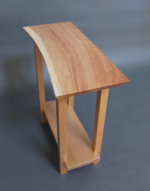 Live Edge Cherry Side Table: For Entryway Table, Small Side Table, Solid  Wood