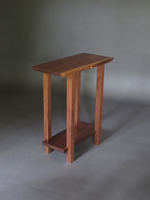 Beau Small Table: Modern Wood Furniture For A Narrow End Table, Narrow Side Table  Or