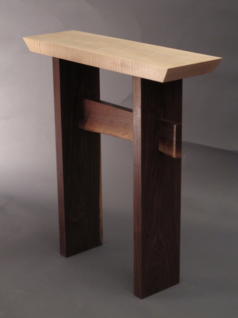 Custom Furniture  Mokuzaiu0027s Statement Side Table Customized For Your Space.  A Narrow Side Table