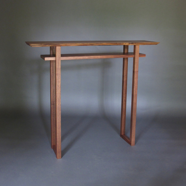 Superbe Live Edge Table  Narrow Console Table, Narrow Side Table, Tall Accent Table  With