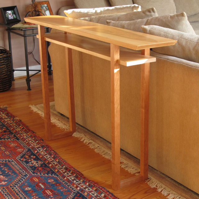 Narrow Sofa Table With Shelf  Narrow Console Table, Modern Wood Furniture  For Your Living