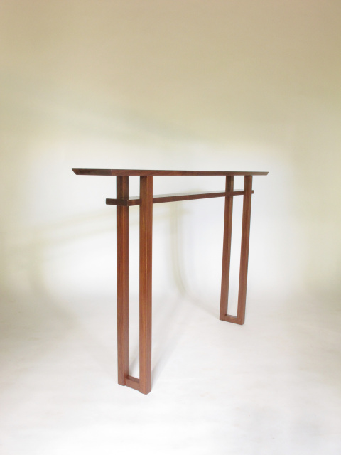 Very Narrow Console Table For Hallways Long Entry Skinny Side Handmade Wood Furniture